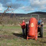 Jean-David Bader et son tracteur